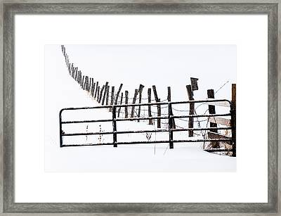 Snowfield Entry - Framed Print