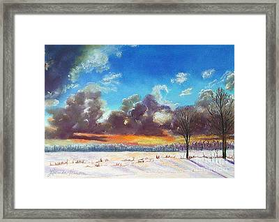 Snowfield IIi Framed Print by Lucinda  Hansen