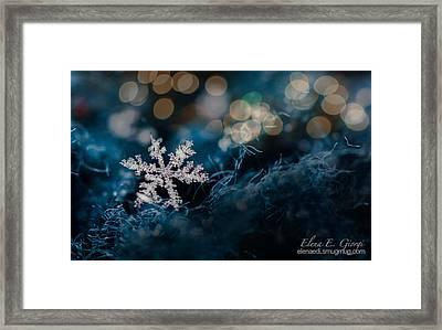 Snowflake Framed Print by Elena E Giorgi