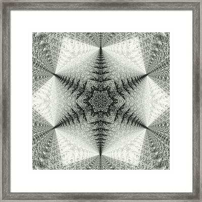 Snowflake Kaleidoscope IIi Framed Print