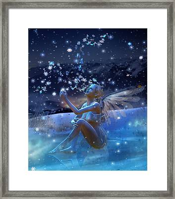 Snowflake Framed Print by Mary Hood