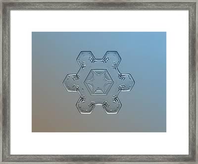 Snowflake Macro - Snow Flower Framed Print by Alexey Kljatov