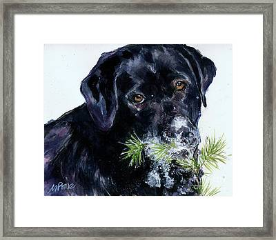 Framed Print featuring the painting Snowflake by Molly Poole