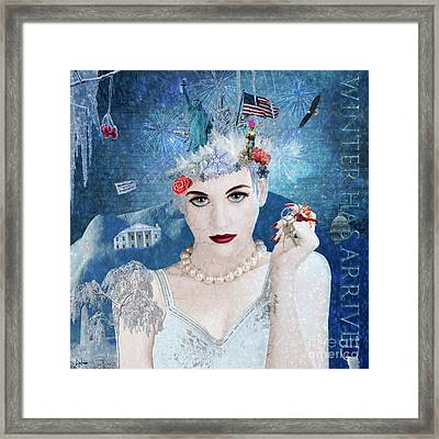 Snowflake Framed Print by Nola Lee Kelsey