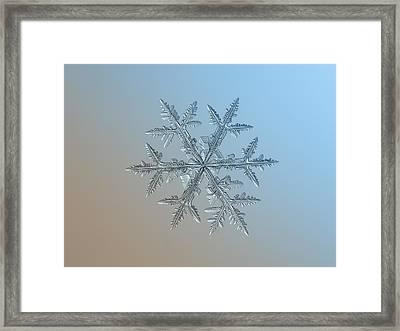 Framed Print featuring the photograph Snowflake Photo - Asymmetriad by Alexey Kljatov