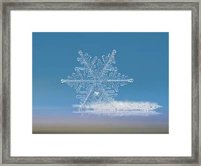 Framed Print featuring the photograph Snowflake Photo - Cloud Number Nine by Alexey Kljatov