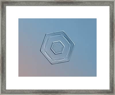 Snowflake Photo - Cloud Wheel Framed Print