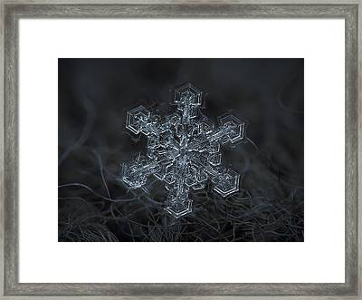 Snowflake Photo - Complicated Thing Framed Print by Alexey Kljatov
