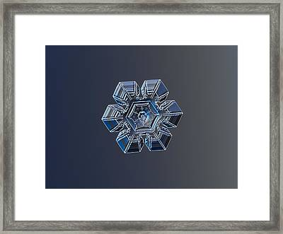 Snowflake Photo - Crystal Of Darkness Framed Print