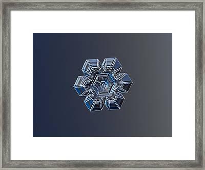 Snowflake Photo - Crystal Of Darkness Framed Print by Alexey Kljatov