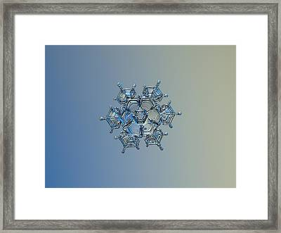 Framed Print featuring the photograph Snowflake Photo - Flying Castle Alternate by Alexey Kljatov
