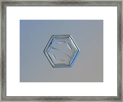 Snowflake Photo - From Scratch Framed Print