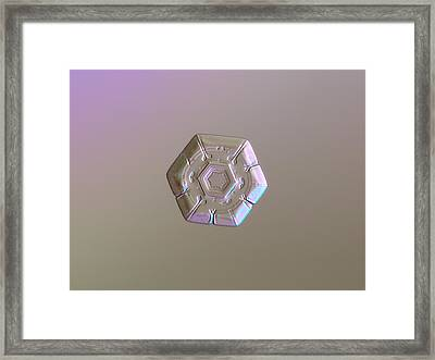 Framed Print featuring the photograph Snowflake Photo - Frozen Hearts by Alexey Kljatov