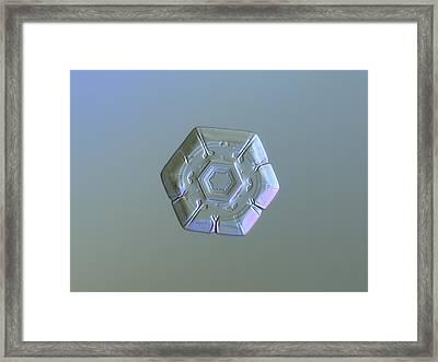 Snowflake Photo - Frozen Hearts Alternate Framed Print by Alexey Kljatov