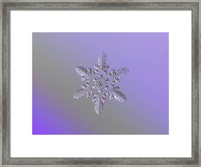 Snowflake Photo - Heart-powered Star Framed Print by Alexey Kljatov