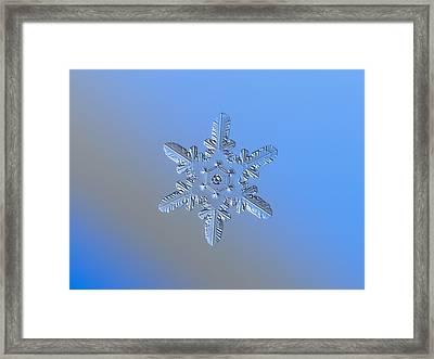 Snowflake Photo - Heart-powered Star Alternate Framed Print by Alexey Kljatov