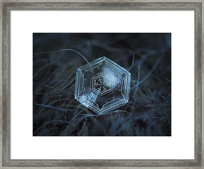 Framed Print featuring the photograph Snowflake Photo - Hex Appeal by Alexey Kljatov