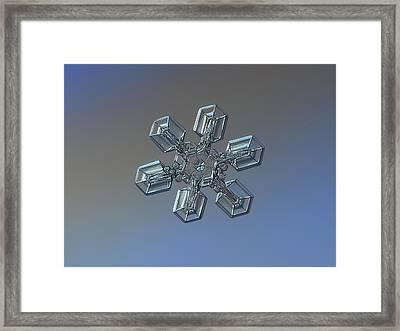 Snowflake Photo - High Voltage Framed Print by Alexey Kljatov