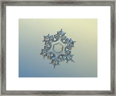 Snowflake Photo - Iron Crown Framed Print by Alexey Kljatov
