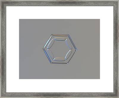 Snowflake Photo - Less Is More Framed Print by Alexey Kljatov