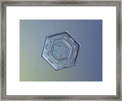 Snowflake Photo - Machinery Of Winter II Framed Print by Alexey Kljatov