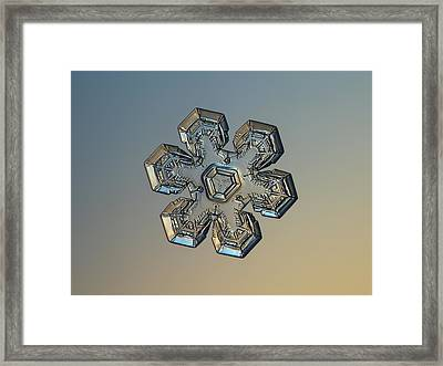 Framed Print featuring the photograph Snowflake Photo - Massive Gold by Alexey Kljatov