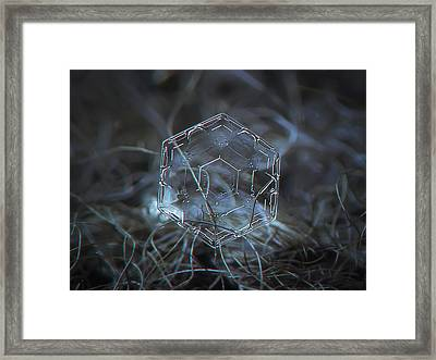 Snowflake Photo - Molten Glass Framed Print