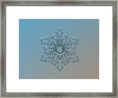 Snowflake Photo - Ornate Pattern Framed Print