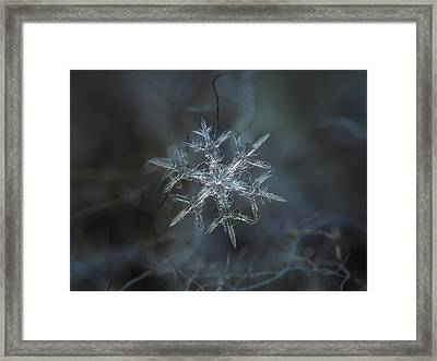 Framed Print featuring the photograph Snowflake Photo - Rigel by Alexey Kljatov