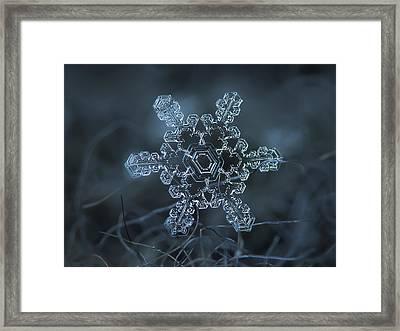 Snowflake Photo - Slight Asymmetry Framed Print by Alexey Kljatov