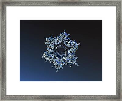 Framed Print featuring the photograph Snowflake Photo - Spark by Alexey Kljatov