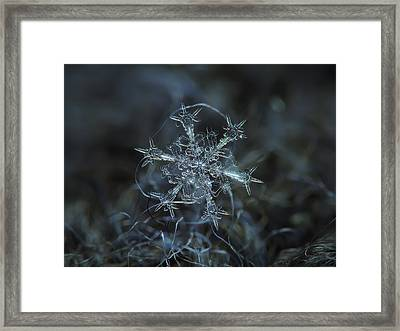 Framed Print featuring the photograph Snowflake Photo - Starlight by Alexey Kljatov