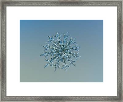 Framed Print featuring the photograph Snowflake Photo - Twelve Months by Alexey Kljatov