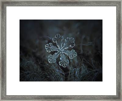 Framed Print featuring the photograph Snowflake Photo - Vega by Alexey Kljatov