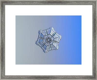 Snowflake Photo - Winter Fortress Framed Print by Alexey Kljatov