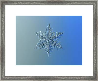 Framed Print featuring the photograph Snowflake Photo - Winter Is Coming by Alexey Kljatov
