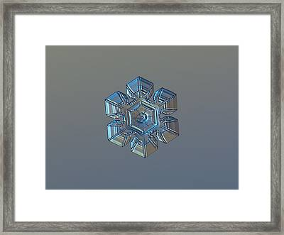 Snowflake Photo - Winter Technologies Framed Print