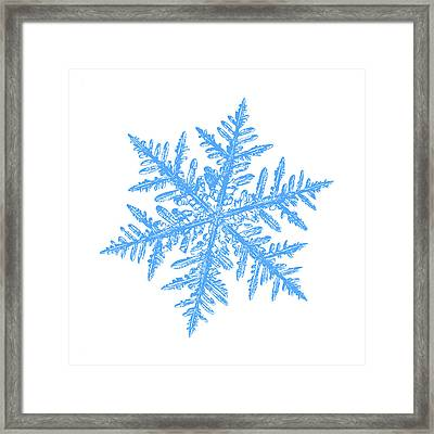 Snowflake Vector - Silverware White Framed Print