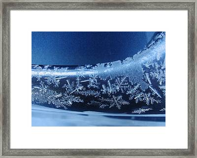 Snowflakes Framed Print by Lori Kingston