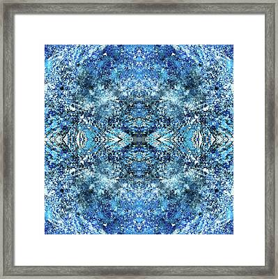 Snowflakes Of The Divine #1415 Framed Print by Rainbow Artist Orlando L aka Kevin Orlando Lau