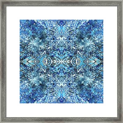 Snowflakes Of The Divine #1418 Framed Print by Rainbow Artist Orlando L aka Kevin Orlando Lau
