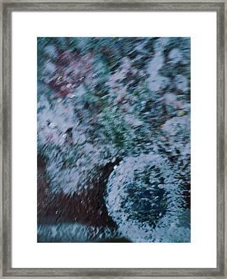 Snowglobe Gone Wild Blue Framed Print by Anne-Elizabeth Whiteway