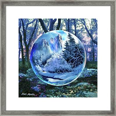 Snowglobular Framed Print