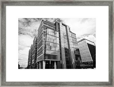 snowhill office development in new financial area of Birmingham UK Framed Print by Joe Fox