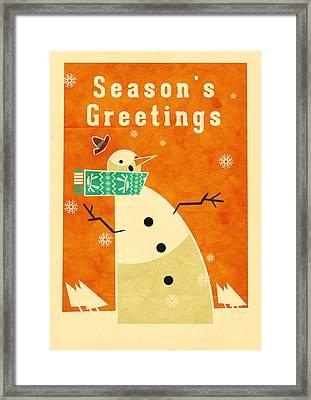 Snowman 3 Framed Print by Daviz Industries
