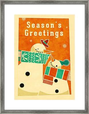 Snowman 5 Framed Print by Daviz Industries