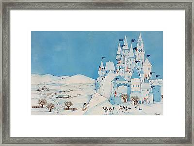Snowman Castle Framed Print by Christian Kaempf