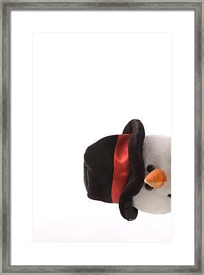 Snowman Pt Framed Print