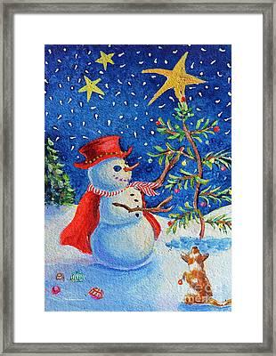 Snowmas Christmas Framed Print