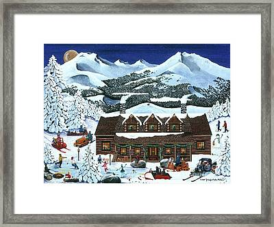 Snowmobile Holiday Framed Print